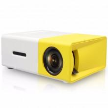 Портативный мини проектор Projector LED YG300 Mini с динамиком Белый