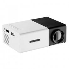 Портативный мини проектор Projector LED YG300 Mini с динамиком Черный