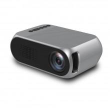 Портативный мини проектор Projector LED YG320 Mini с динамиком Серый